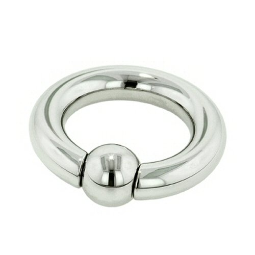 Stainless Steel Captive Bead Ring: 6g 1-5/8