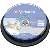 Verbatim BD-R Single Layer 25GB 6X LTH wide print. NO ID 10 Pack, 43751 (LTH wide print. NO ID 10 Pack)