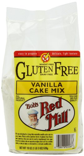 Bob's Red Mill Gluten Free Vanilla Cake Mix, 19-Ounce Packages (Pack of 4)