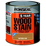 Ronseal 5 Year Woodstain 250ml Natural Oak