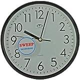 Black Quartz Wall Clock w/ Quiet Sweep Second Hand