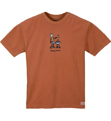 Life is good Men's Crusher Tee - Happy Hour BBQ