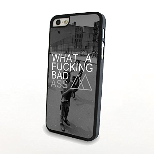 Generic Matte Hard Plastic Phone Cases Quote Fucking Bad Ass Fit For Iphone 5/5S