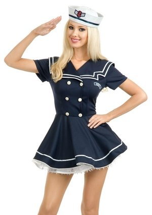Pin Up Sailor Babe Costume