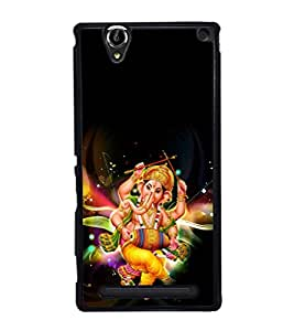 printtech Lord God Ganesha Back Case Cover for Sony Xperia T2 Ultra , Sony Xperia T2 Ultra Dual