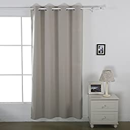 Deconovo Insulated Curtains Grommet Thermal Curtains for Baby Room 52 Inch By 63 Inch 1 Panel Linen