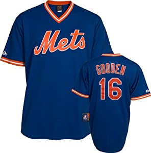 Dwight Gooden New York Mets Royal Cooperstown Jersey by Majestic by Majestic