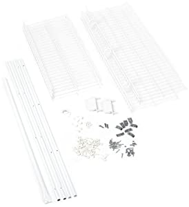 Rubbermaid FastTrack FreeSlide Expandable Closet Organizer, 5 to 8 foot, White (3D1100WHT)