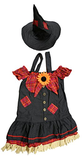 Fun World Scarecrow Costume Women Size 2-14 Blue [121874]