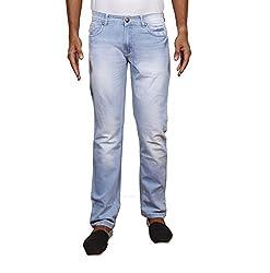 John Wills Men's Slim Fit Jeans (MCR1005--36, Blue, 36)