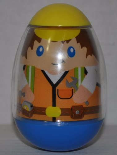 Weeble Wobbles Construction Worker #19 (2009) - Doll Toy Figure- Loose Out of Package & Print (OOP)
