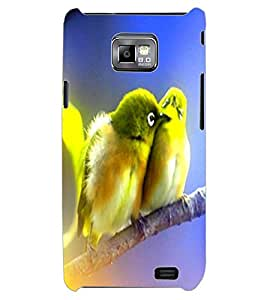 ColourCraft Love Birds Design Back Case Cover for SAMSUNG GALAXY S2 I9100