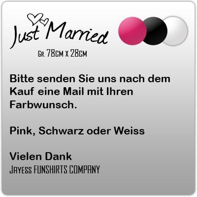Hochzeit Just Married Heirat Vermählung Fahne Flagge 90 x 150 cm mit 2 Ösen