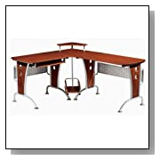 Ergonomically Designed L-Shaped Desk