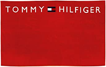 tommy hilfiger serviette de bain logo towel homme rouge tank red taille unique. Black Bedroom Furniture Sets. Home Design Ideas