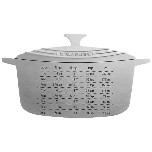Le Creuset Measure Magnet, 6-1/2 by 3-3/4-Inch