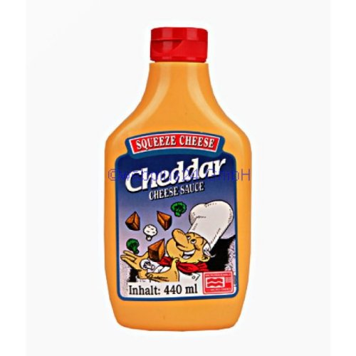 Cheddar Squeeze Cheese Microwaveable (440g)