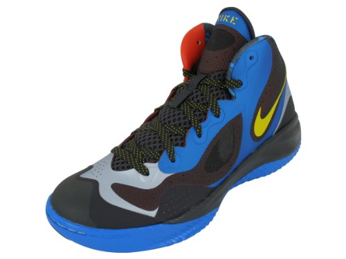 Men's Nike Zoom Hyperfranchise XD Basketball Shoe Blue/Platinum/Yellow Size 10.5
