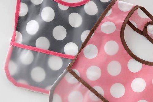 (チャックル) chuckle おしゃれ水玉食事用エプロン2枚組 ピンク 20cm P8144-00-20