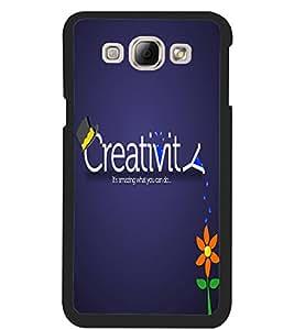 ColourCraft Creative Image Design Back Case Cover for SAMSUNG GALAXY A8