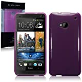HTC One (M7) TPU Gel Skin Case / Cover - Purpleby TERRAPIN