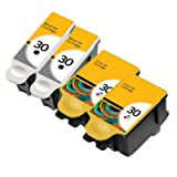 2 x Set Non OEM kodak 30 Ink Compatible Ink For Kodak ESP C110 Printer, XL size Black and Standard size Colour Ink For Kodak ESP C100, C110, C115, C300, C310, C315, C330, C360, ESP Office 2100 AIO, 2150, 2170, HERO 3,1, HERO 5,1 All in One Printer