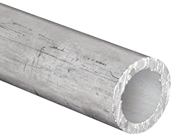 "Aluminum 6061-T6 Seamless Round Tubing, ASTM B210, 1/4"" OD, 1"" ID, 1/8"" Wall, 36"" Length"