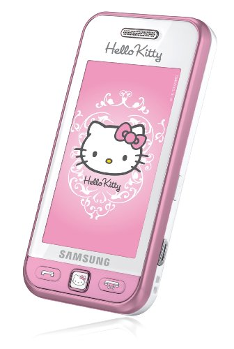 Samsung Star S5230 Hello Kitty Edition S5230 Smartphone (7,6 cm (3 Zoll) Display, Touchscreen, 3 Megapixel Kamera) white-pink - Hello Kitty