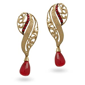 Sia Women Girls Earrings SL 1026 Red