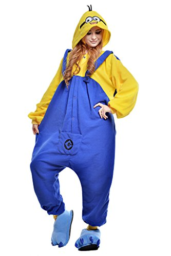 Engerla® Mood Minion Kigurumi Pajamas Sleep Suit Halloween Adult Anime Cosplay