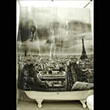 Exclusive Izola Designer Shower Curtain - Paris