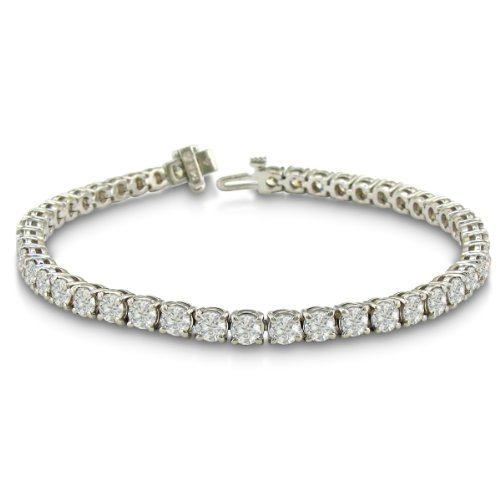 IMPRESSIVE 10 Carat Diamond Round Setting Tennis Bracelet in 14 Karat White Gold, Incredibly Low Price