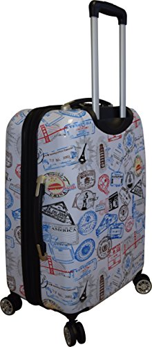 Kemyer 788 Vintage World Series Lightweight 3-PC Expandable Hardside Spinner Luggage Set 4