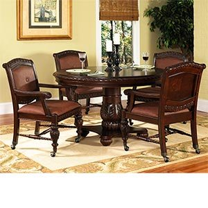 Buy Low Price SHOPZEUS Ayden 5 Pc Caster Dining Set 54 Round Dining Table A