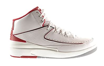 Buy Air Jordan 2 Retro Mens Shoes White Black-Varsity Red-Cement Grey 385475-102 by Jordan
