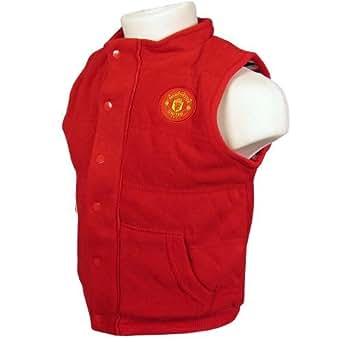 Brecrest Babywear Manchester United MAN101 Baby Boy's Gillet Red 18-23 Months