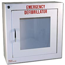 "First Voice TS180SM-1 Medium Surface Mounted AED Cabinet with Alarm, 14"" Width x 14"" Height x 6.25"" Depth"