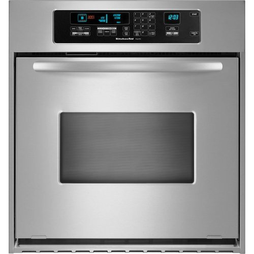 KitchenAid KEBC147VSS 24in Single Wall Oven - Stainless Steel