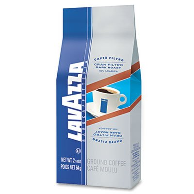 Ideal for filter and drip coffee machines. - LAVAZZA * Gran Filtro Italian Dark Roast Coffee, 2.25oz, Ground Fraction Pack, 30/Carton