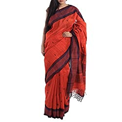 Kiara Crafts Silk Saree (kc-009_Orange)