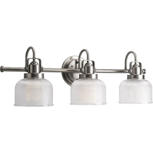 Progress Lighting P2992-81 Archie-Three Light Bath Vanity, Antique Nickel Finish