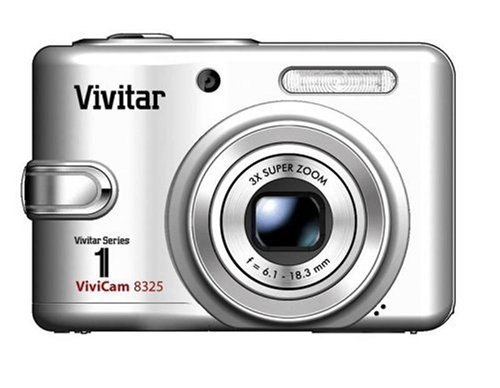 Vivitar Vivicam-8325 8.0Mp Camera With 3X Optical Zoom And 2.36-Inch Lcd