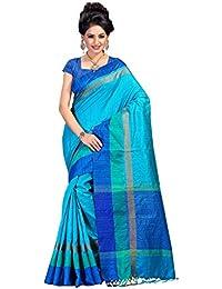 Fabattic Tassar Silk Saree (Chi16564L_Sky Blue)