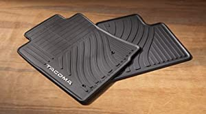 Genuine Toyota Rubber All Weather Floor Mats for 2008-2011 Tacoma Double Cab-New, OEM