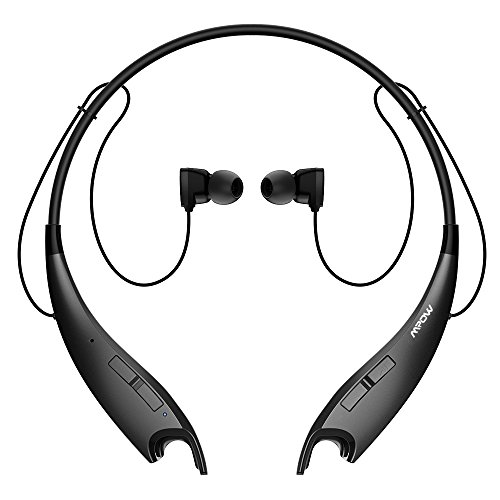 Mpow Jaws Wireless Bluetooth 4.1 Stereo Headset Universal Headphone w/Flexible & Light Neck Band Design Hands Free Calling for Apple iPhone 6 6s Plus/5s/5c/5, iPhone 4s/4, Samsung Galaxy S6 S5/S4/,LG, PC Laptop, and Other Bluetooth Devices