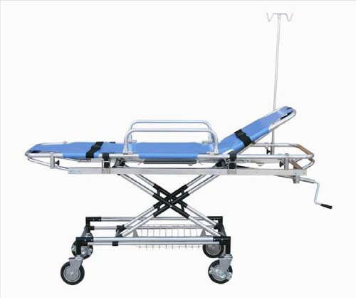 Medical Stretcher Trolley Ambulance Aluminum Wheel New Blue Equipment Emergency EDJ-010B FORZA4