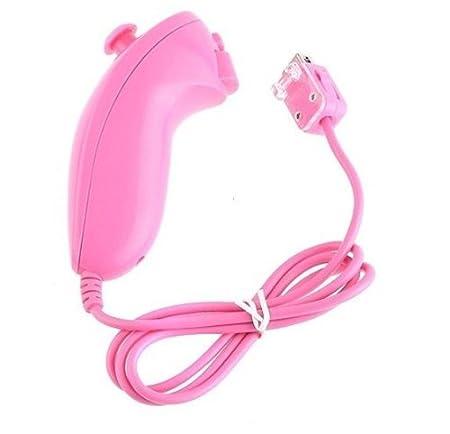 Matek: Rose Pink Nunchuck Controller for Nintendo Wii