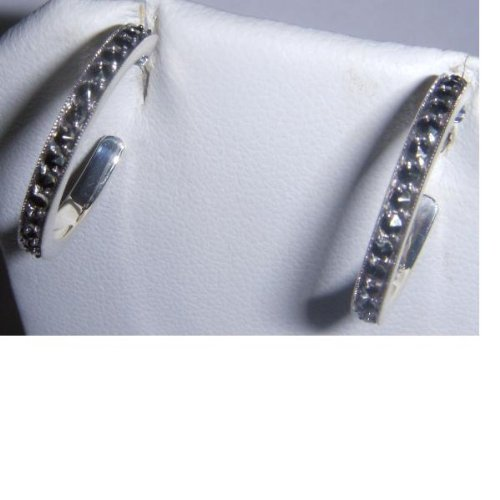 Art Deco Marcasite Hoop Earrings