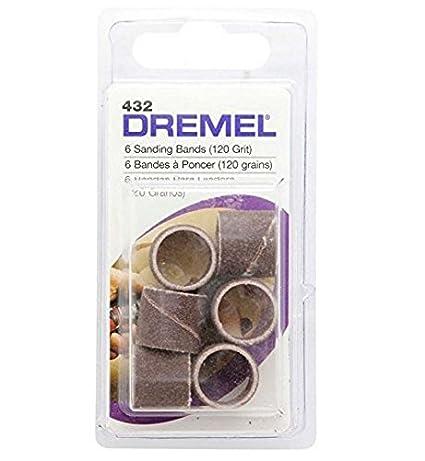 Dremel-432-1/2-Inch-120-Grit-Sanding-Band-Set-(6-Pc)