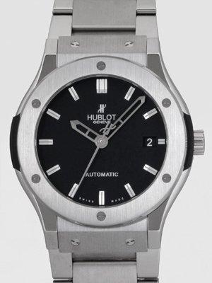 Hublot Classic Fusion Mat Black Dial Titanium Mens Watch 511.NX.1170.NX